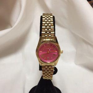 d63761a6ef02 Michael Kors Accessories - Michael Kors Mini Lexington Pink Dial Gold Watch